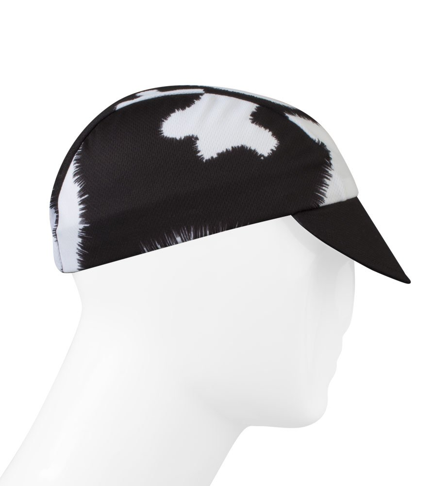 Moo! Cow Print Cycling Cap - Made in the USA