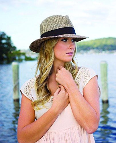 Wallaroo Womens Josie Sun Hat - Lightweight and Breathable Sun Hat - UPF 50+ (White/Beige)