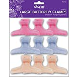 Diane Large Frosty Butterfly Clips, 9/bag