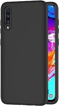 AICEK Funda Samsung Galaxy A70, Negro Silicona Fundas para ...