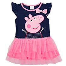 LEMONBABY Peppa Pig Girl's Dress Fashion Clothing Kids Cartoon Wear Child