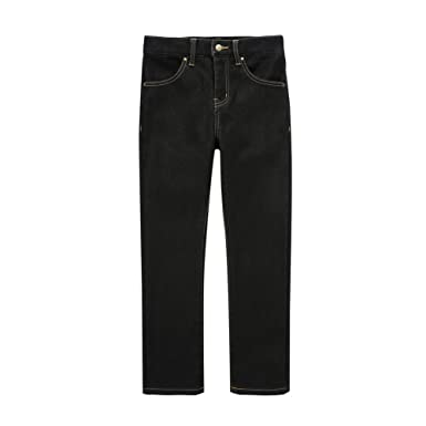 6a16d19d3c7 UNACOO Girls Warm and Soft Plus Velvet Jeans with Stretch Straight Leg ( Black