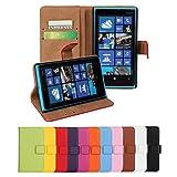 Lumia 920 Case, iCoverCase Genuine Leather Magnetic Flip [Card Slot] Wallet Cover Kickstand Case for Nokia Lumia 920 (Blue)