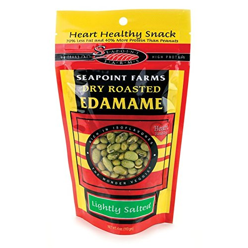 SEAPOINT FARMS Low Sodium Roasted Dried Edamame, 4 OZ -