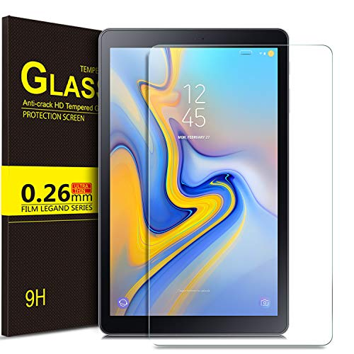 IVSO Screen Protector for Samsung Galaxy Tab A 10.5, 9H Hardness HD Clear Tempered Glass Screen Protector for Samsung Galaxy Tab A 10.5 2018 Release SM-T590 (Wi-Fi) SM-T595 (LTE) Tablet