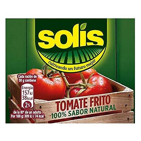 Solis Tomate Frito Con Aceite de Oliva Brick- Tomate Sin Gluten, 400 gr - Pack de 6: Amazon.es: Alimentación y bebidas