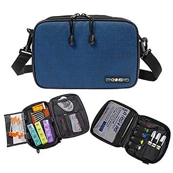 ChillMED Elite Diabetic Organizer Supply Kit | Insulin and Medication Travel Cooler Bag - Blue