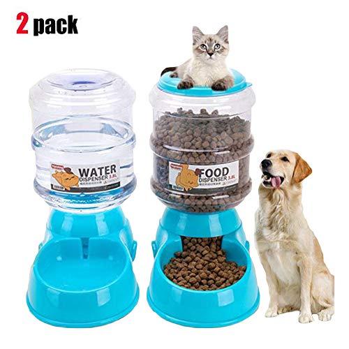 Pet Waterer Auto Dog Feeder Dog Food Dispenser ()