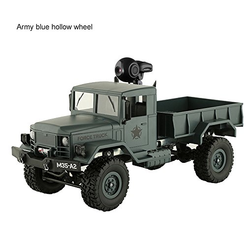 Dreamyth Excellent WPL B-16 1:16 4WD RC Military Truck Wireless Remote Control Car Toy (Army Green)