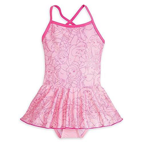 Disney Princess Swimsuit for Girls Size 7/8 (Disney Piece One Swimsuit)