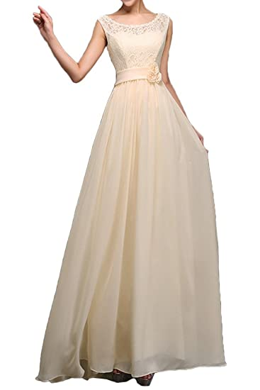 Sunvary Jewel Applique Chiffon Prom Pageant Evening Dresses-6-Ivory