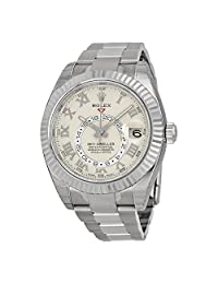 Rolex Sky Dweller 18K White Gold Rolex Oyster Automatic Mens Watch 326939IVRO