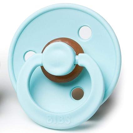 bibs chupetes de goma natural libre de BPA Menta/Turquesa 6 ...