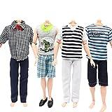 ken doll clothes and accessories - 4 Set Casual Suits Clothes Tops Pants For Barbie Boy Friend Ken Dolls