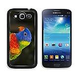 MSD Premium Samsung Galaxy Mega 5.8 Aluminum Backplate Bumper Snap Case IMAGE ID 19495183 rainbow lorikeet parrot