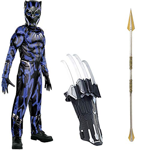 Black Panther Mcu Costumes - Party City Black Panther Deluxe Muscle