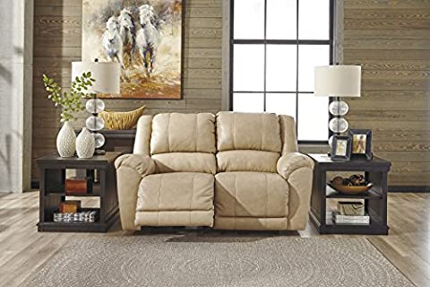 Yancy Contemporary Galaxy Color Leather Reclining Loveseat - Over Dual Reclining Loveseat