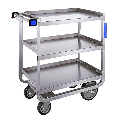 Lakeside 744 Heavy Duty Utility Cart, 3 Shelves, Stainless Steel, 700 lb Capacity, 22-3/8