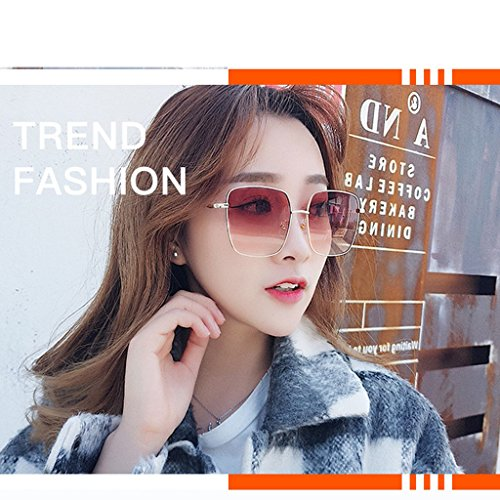tea Gold Anti Style Frame Gold Moda Metal frame Weight Color Framed Gafas Black de Star Unisex 30g Gafas Gafas Large Decoración UV400 Sol xqRnWCBwS4