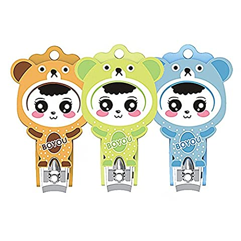 BOYOU Nail Clippers Specialized Cartoon Design for Children Infants Safe Fingernail Clipper Anti-Splash Cutters - Specialized Electronics