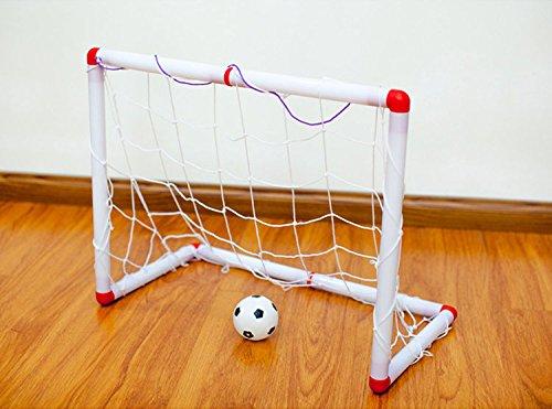adahill ( TM )ポータブル折りたたみ子供Kid Goal FootballドアセットFootballゲートアウトドアインドアおもちゃスポーツトイ B01MAY4M5Mホワイト
