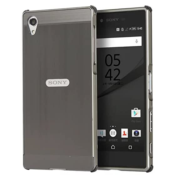 official photos d761a 89a42 Sony Xperia Z5 Premium Case, Ranyi [Brushed Metal Series] Luxury Aluminum  Metal Bumper Frame Detachable + Smooth Brushed Hard Back Cover [Slim &  Thin] ...