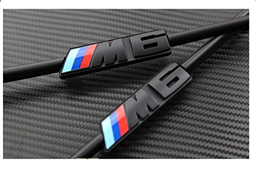 Side Fender Moulding Side Fender Vent Grill Grille for BMW M6 -Black