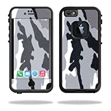 Mightyskins Protective Vinyl Skin Decal Cover for Lifeproof iPhone 6/6S Case fre Cover wrap sticker skins Gray Camo