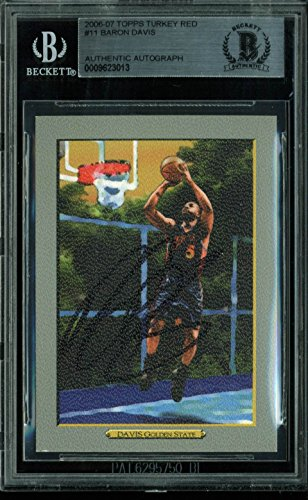 Warriors Baron Davis (Warriors Baron Davis Authentic Signed Card 2006 Topps Turkey Red BAS Slabbed)