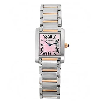 c95e07682be7 Amazon.com  Cartier Tank Francaise 18kt Rose Gold and Steel Pink ...