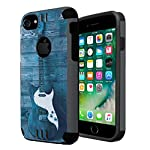 iPhone 7 Case, Capsule-Case Hybrid Dual Layer Silm Defender Armor Combat Case (Dark Grey & Black) Brush Texture… 3 Designed to Fit: Apple iPhone 7. (Please note this case will only fit regular iPhone7; NOT for iPhone-7-Plus) High Quality Silicone Rubber and Hard Polycarbonate PC Plastic Hybrid Dual Layer Case Protects Your Phone from Everyday Bumps and Scratches Easy Installation; Easy Access to All Buttons and Ports; Unique Exterior Brush Texture Finishing