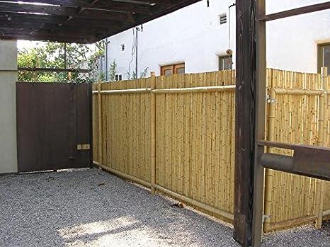 Amazon.com: Cerca de bambú natural enrollada Backyard ...