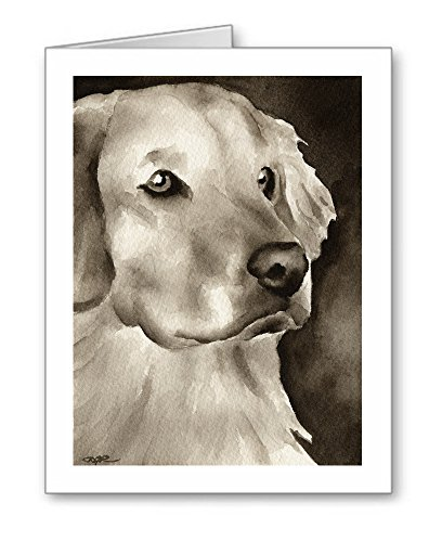DJ Rogers Fine Art Golden Retriever - Set of 10 Dog Note Cards with Envelopes ()