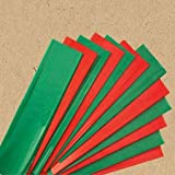 24 Red & Green Christmas Tissue Paper (Solid Colors)
