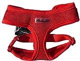 IPuppyone Adjustable Dog Soft Harness 'Air Flex' Medium Red