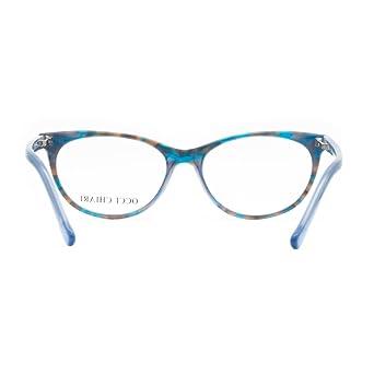 OCCI CHIARI BESSI Moda creativa modello ovale in acetato montatura per occhiali da vista (rosso 50) blocco mal di testa UV IV5GBcNY