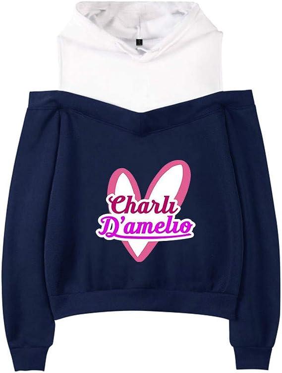 Charli Damelio Merch Sudadera con Capucha Hype House Merch para Ni/ñas Sudadera Informal de Manga Larga a la Moda para Mujeres y Ni/ñas