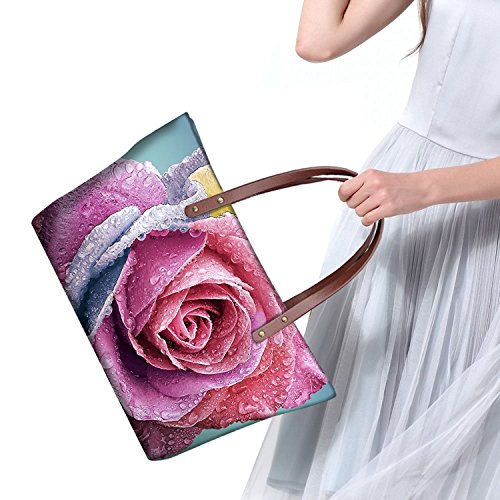 Handle Wallets Top Women Bags Purse Foldable leather V6lcc3503al Handbags FancyPrint Satchel qOnpF0Uw