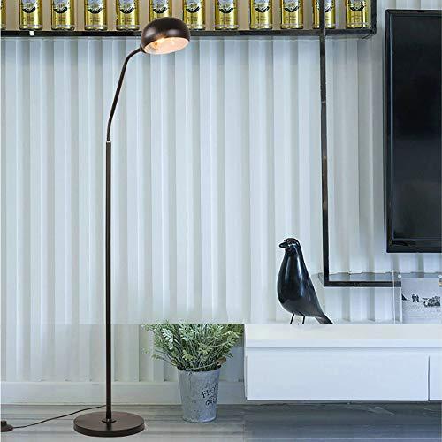 m·kvfa Gooseneck Floor Lamp Eye LED Bedroom Living Room Study Bedside Adjustable Fishing Lamp Eye Protection Reading Light ()