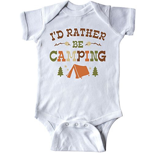 inktastic - Rather Be Camping T1 Infant Creeper 12 Months White 27f87