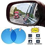 Car Rearview Mirror Film, 2PCS HD Anti-Fogging Safety Driving Guard Mirror Window Sticker with Nano Coating, Rainproof, Anti-Glare, Anti-Scratch Clear Screen Protector