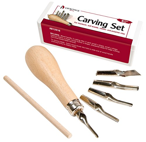 Heritage Arts Linoleum and Vinyl Carving Set