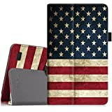 Fintie Folio Case for All-New Amazon Fire 7 Tablet (7th Generation, 2017 Release) - Slim Fit PU Leather Standing Protective Cover Auto Wake/Sleep, Compatible with Fire 7 (5th Gen, 2015), US Flag