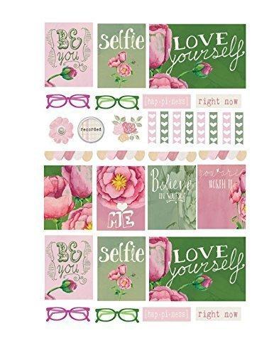 Weekly planner stickers, scrapbook elements,