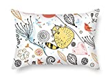 Renee Juliana Cat Pillow Shams Best Choice For Seat Office Teens Girls Her Christmas Bedroom With Two Sides