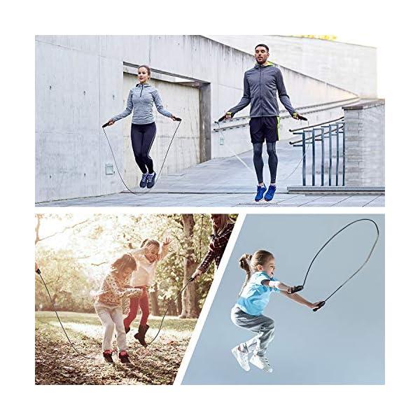 Corde à Sauter, Blukar Speed Jump Rope Réglable pour Enfant & Adulte, Roulements à Billes en Acier, Poignées…