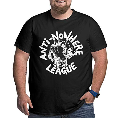 Men's Plus Size T-Shirt Anti-Nowhere-League Crewneck Short Sleeves Classic Printed Black Tops XXL