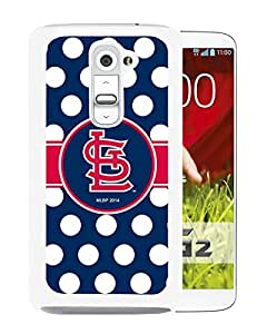 St Louis Cardinals White Abstract Personalized Picture LG G2 Case