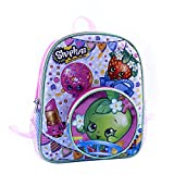 """Shopkins Girls 12"""" School Backpack with Round Apple Blossom Front Pocket"""