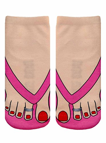 Flip Flops (Pale) Photo Print Ankle Socks